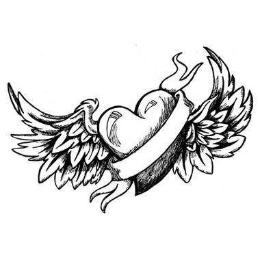 Tatouage ange et coeur