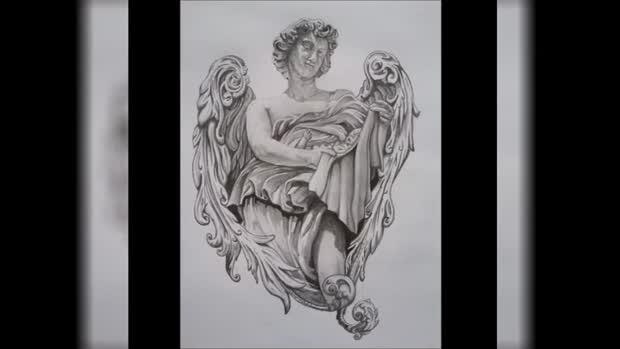 tatouage ange gabriel