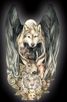 tatouage animaux indien