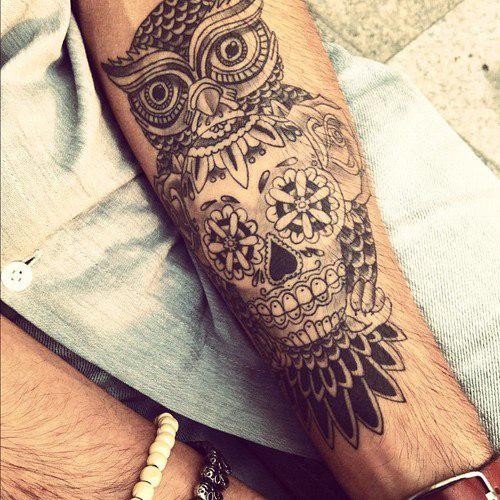 tatouage avant bras indien