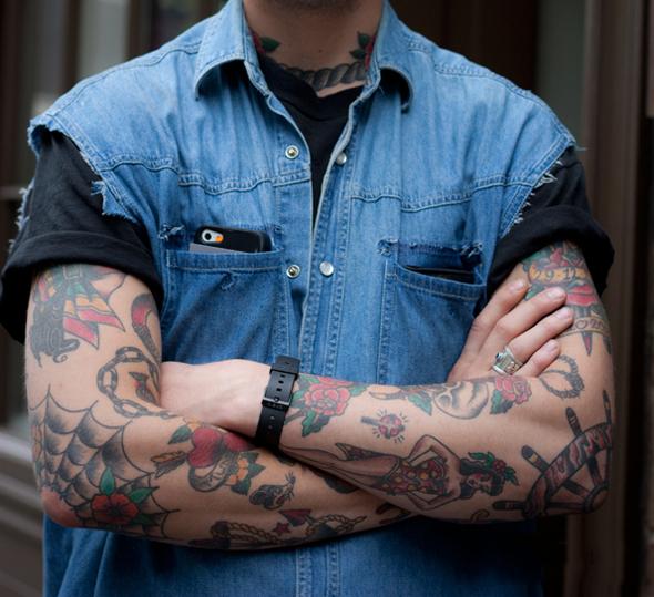 tatouage avant bras old school