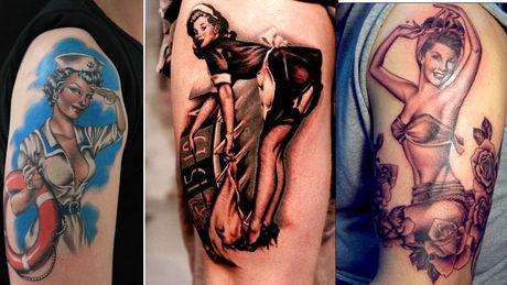 tatouage avant bras pin up
