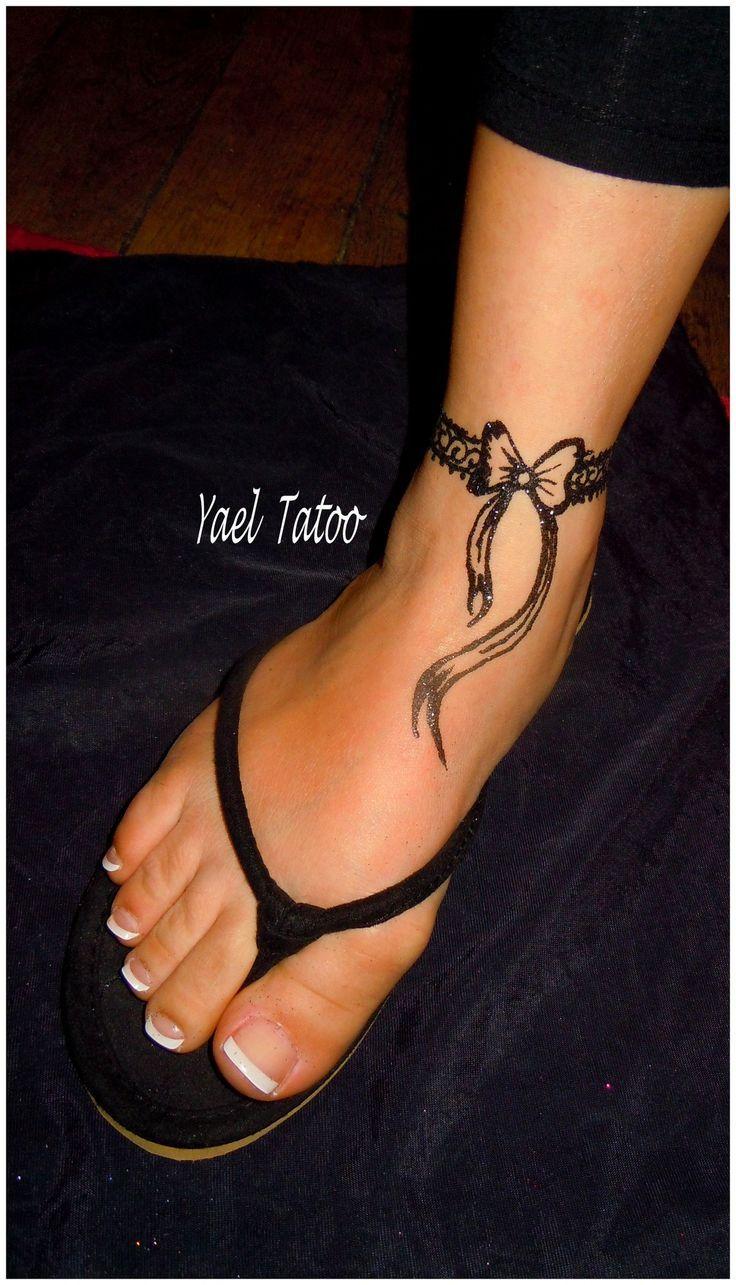 tatouage bracelet noeud cheville