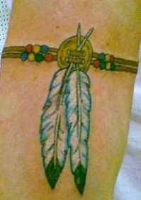 tatouage brassard indien
