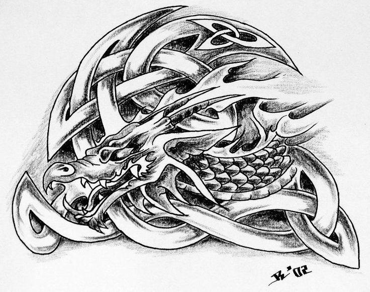Tatouage celtique dragon