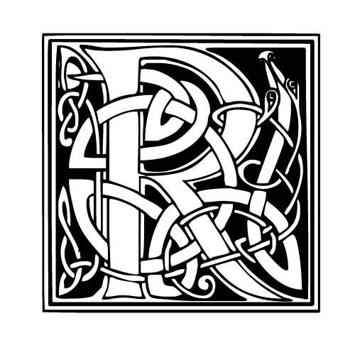 tatouage celtique lettre
