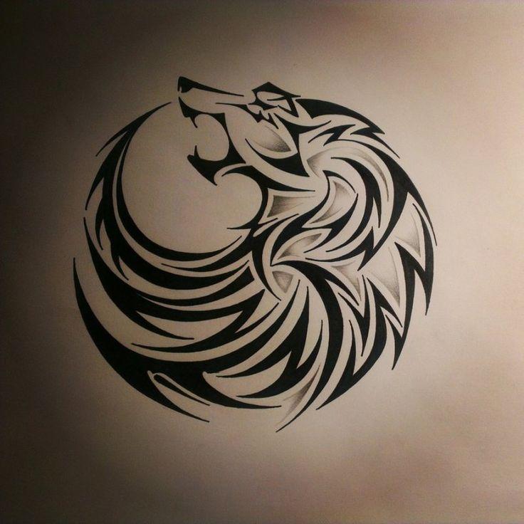 tatouage celtique loup