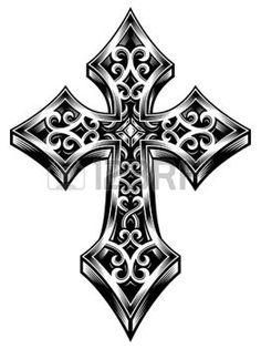 tatouage croix celtique nuque