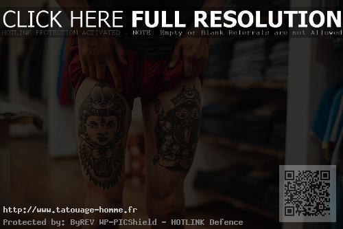 tatouage cuisse homme