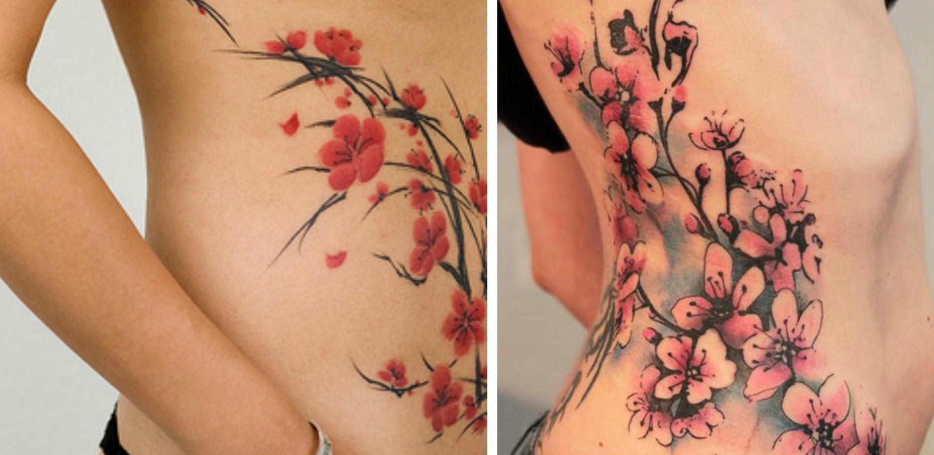 Tatouage fleur cerisier