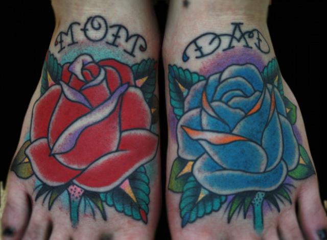 tatouage fleur new school