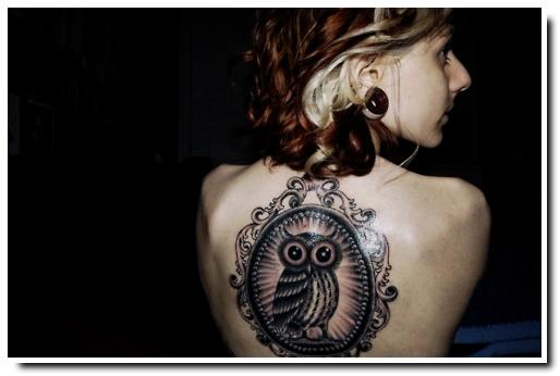 tatouage hibou chouette
