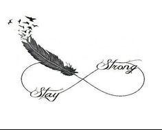 tatouage infini plume oiseau