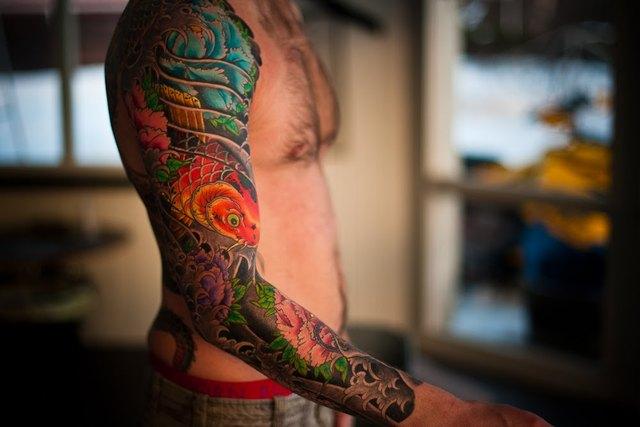 tatouage japonais homme bras