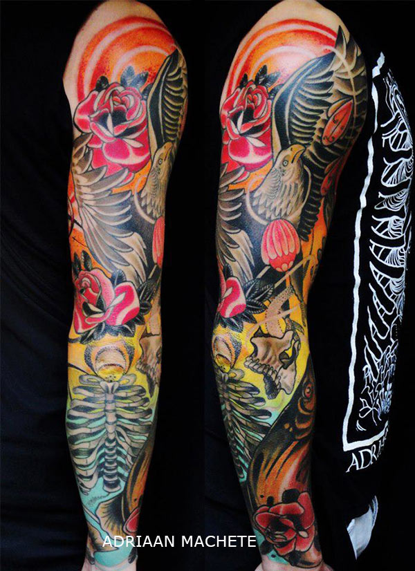 Tatouage japonais new school