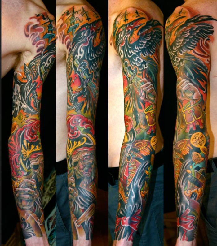 tatouage japonais new school