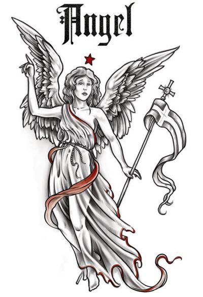 Tatouage logo ange