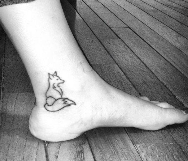 tatouage loup discret