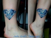 tatouage noeud bleu