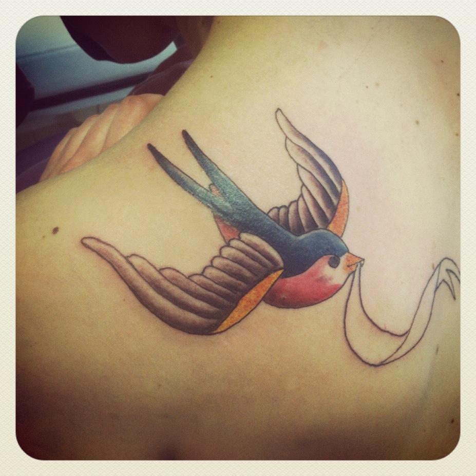 tatouage oiseau old school
