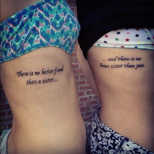 tatouage phrase courte famille