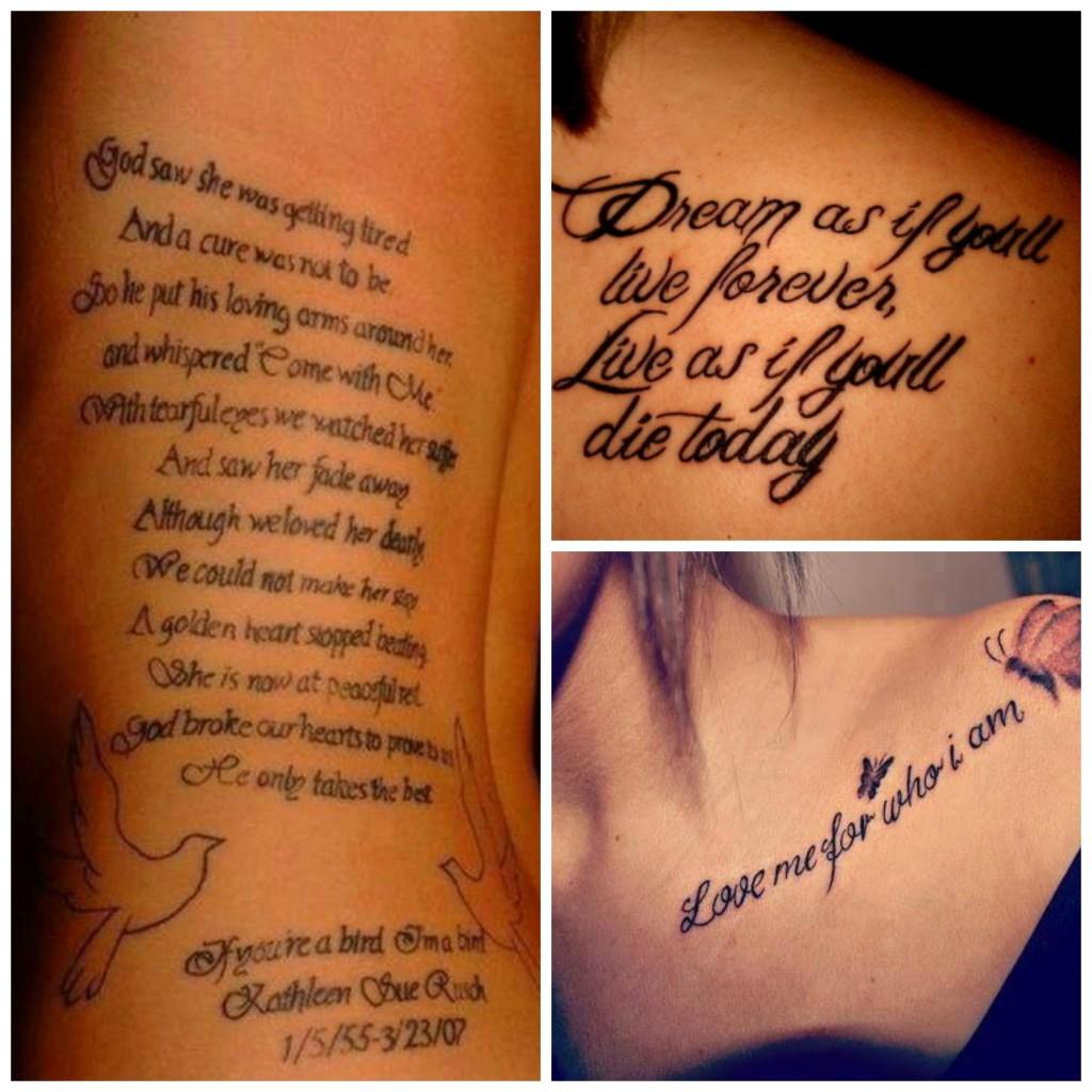 tatouage phrase famille anglais