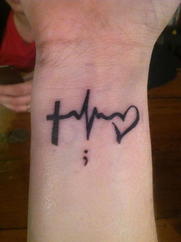 tatouage poignet homme croix