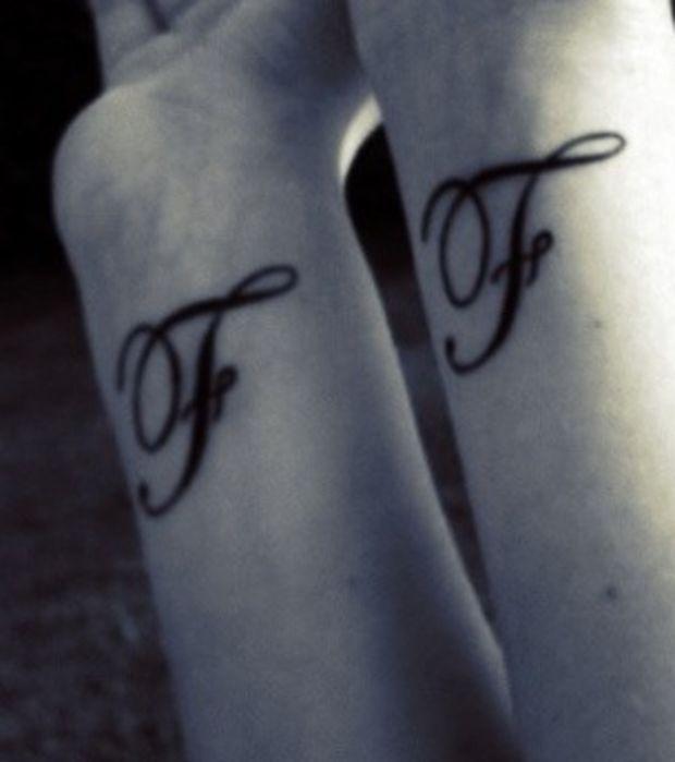 tatouage poignet lettre