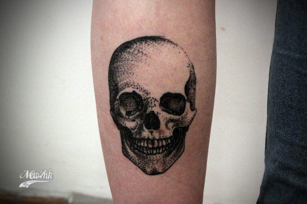 tatouage tête de mort gothique