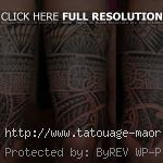 Tatouage tribal tour cuisse homme