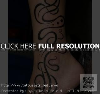 tattoo tribal cheville femme